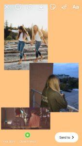 Instagram multiple images story screenshot